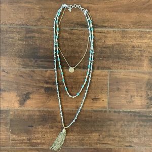 🌟RARE🌟Silver & Turquoise Layer Necklace